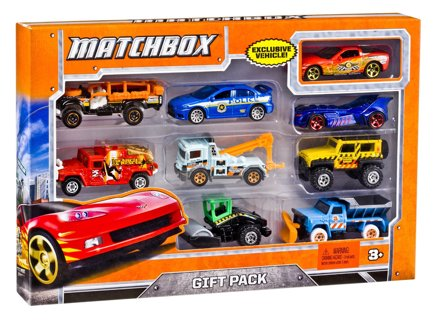 SPECIAL` BRAND NEW - Matchbox 9-Car Gift Pack (Styles May Vary) ~ WITH A COLLECTABLE OR HOT WHEELS