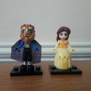 New Belle/Beast Minifigure Building Toy Custom Lego