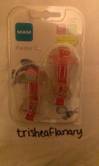 2 pack pacifier clips - Brand New