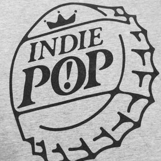 MEN'S AMERICAN APPAREL T-SHIRT Indie Pop Shirt Bottle Cap Tee MEN'S MEDIUM TOP(SILVER) FREE SHIPPING