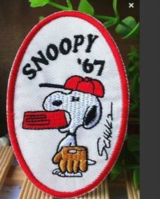 1 VINTAGE Snoopy Patch IRON ON Patch PEANUTS Clothing accessories Embroidery Applique FREE SHIPPING