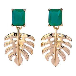 Green Leaves Earrings for Women  Earrings Female Ethnic Fashion Jewelry