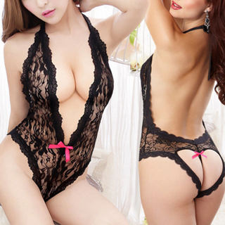 Women's Sexy-Lingerie Lace Dress Sleepwear G-string Babydoll Underwear Nightwear