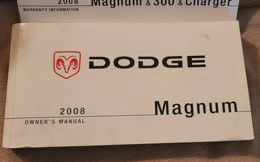 Dodge Magnum Owners Manual 2008