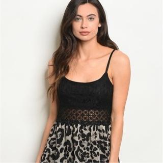 Sexy Black Grey Leopard Print Dress Size Small, Medium, Large