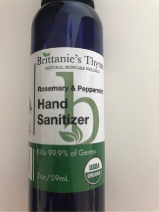 NEW Brittanie's Thyme Rosemary & Peppermint Hand Sanitizer Spray Bottle • Free Shipping
