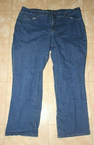FADED GLORY Women's Size 22 WP Darker Wash Jeans Cotton Polyester Spandex Mix.