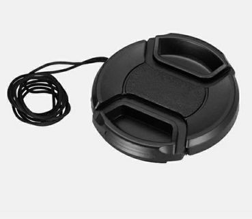 58 mm Front Lens Cap Center Snap on Camera Cover for Canon with Leash