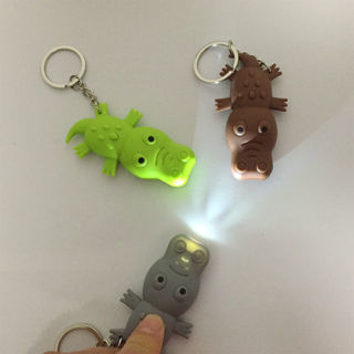 Lovely Crocodile Shape LED Toys with Sound Mini Torch Flashlight Kids Toy Gifts