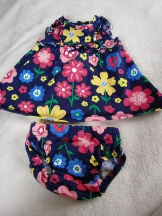 Newborn Carter's Dress set