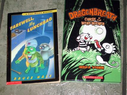 Free: 2 Kids Books- DragonBreath Curse of Were-Wiener
