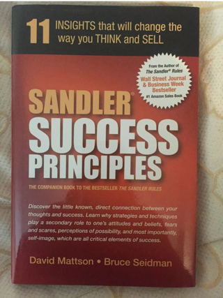 HUGE SALE! Sandler Success Principles : 11 Insights That Will Change the Way You Think