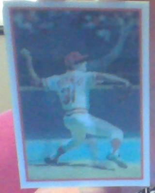 **#196 1986 JOHN FRANCO REDS 3D BASEBALL CARD**