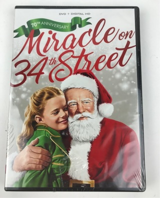 ✯Miracle on 34th Street (1947) DVD + Digital HD Brand New Sealed ~ FREE SHIPPING✯