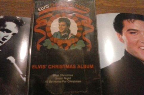 Elvis Christmas Album Cassette Tape with two bonus 4×5 photos