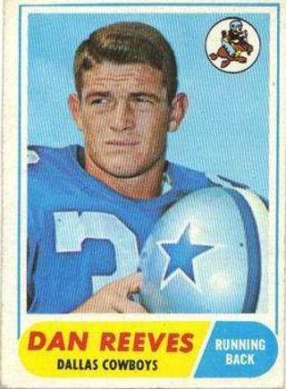 1968 Topps Dan Reeves Dallas Cowboys