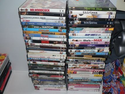 DVD Lot- 112 Assorted MOVIES *Blockbuster Hits, All titles listed* WOW 112 DVDs!!!