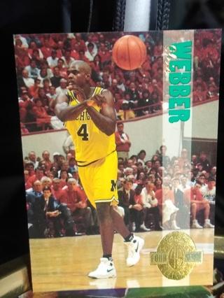 1993 Chris Webber NCAA Rookie Michigan Pistons