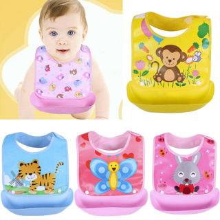 Baby Detachable Kids Boys Girls Waterproof Feeding Apron Saliva Towel Bib Smock
