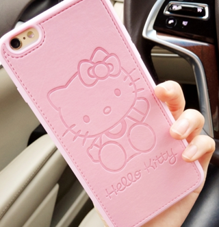 High quality Pu Leather cute Hello kitty case for Apple iphone 6 6s 6plus 7 7plus Lovers