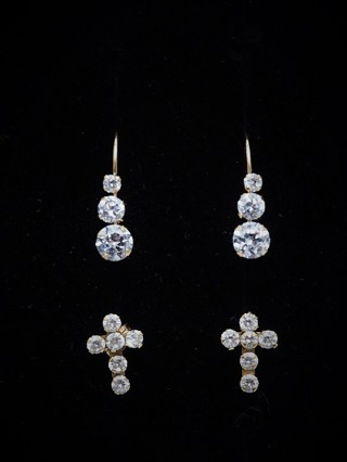 10k Yellow gold 2 Pairs of Earrings