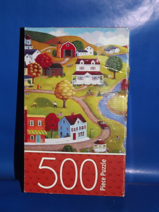 Country Village Jigsaw Puzzle 500 Pieces *NEW* Cardinal