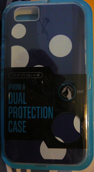 Iphone 6 Dual Protective Case, Blue and White