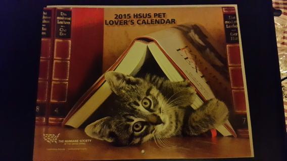 New 2015 HSUS PET LOVERS'S Calendar