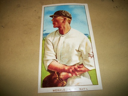Fred Merkle New York Yankees Old Vintage Baseball Tobacco Card Greeting Card 1989 FREE SHIPPING