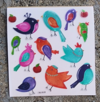 BIRD PUFFY STICKERS