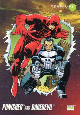 1992 Marvel Collectible/Trade Card: Punisher & Daredevil