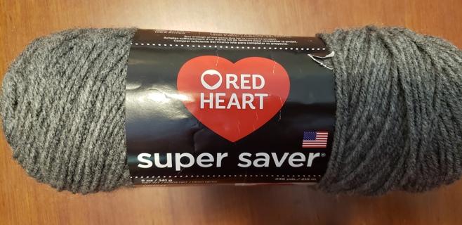 "NEW - Red Heart Super Saver Yarn - ""Grey Heather"""