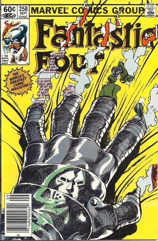 (CB-7) 1983 Marvel Comic Book: Fantastic Four #258