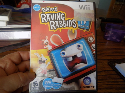 Wii Rayman Raving Rabbits TV Party game