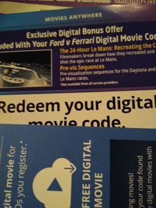 Free Digital Code For Ford V Ferrari Other Dvds Movies Listia Com Auctions For Free Stuff