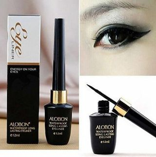 Cool Liquid Eyeliner Waterproof Eye Liner Pencil Pen Black Make Up Comestics Set