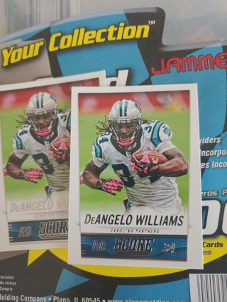 2014 Score DeAngelo Williams Lot of 2 Carolina Panthers