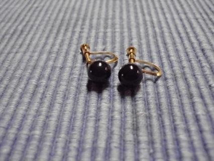 Lot of 20 pr. Faux Black Pearl Earrings