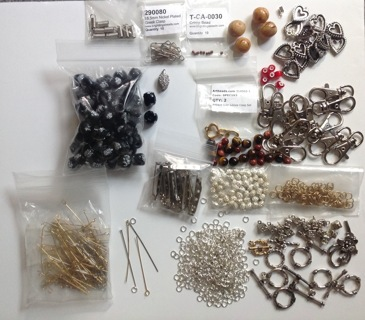 Jewelry makers beads, clasps, headpins, jump rings