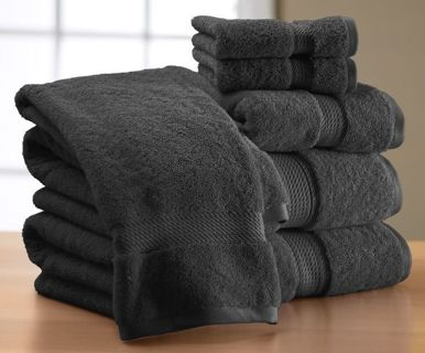 Brand New Fade Resistant Black Towel Set!