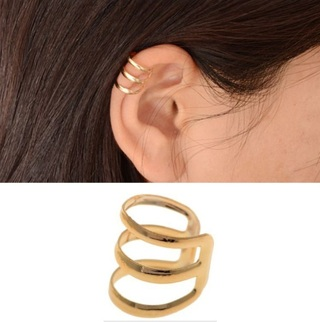 NEW Fashion 2Pcs Minimalist Style Hollow U-shape Ear Bone Clip Earrings Without Pierced Gold