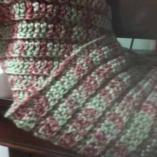 Hand crocheted Scarf .