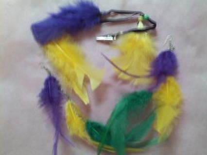 **FEATHER EARRINGS AND HAIR CLIP**PLUS SOMETHING SPECIAL FOR MY 500TH FAN