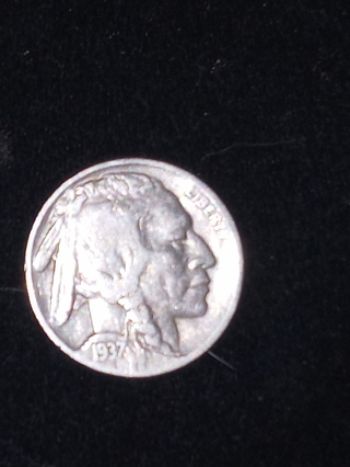 1937 Buffalo Nickel, and 1945 S Jefferson 35 Percent Silver War Time Nickel