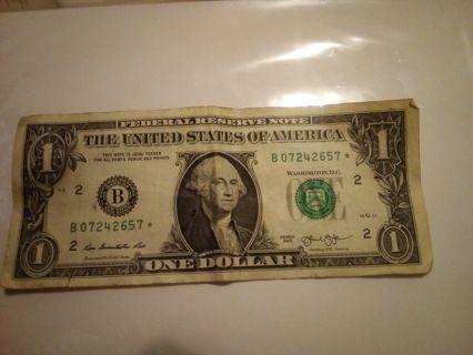 Star $1.00 bill