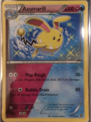 Azumarill pokemon Card- mint condition- includes sleeve
