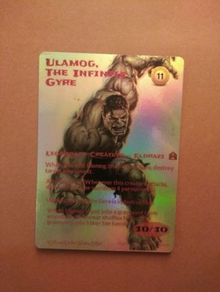 Magic the Gathering Custom-Altered foiled Ulamog the Infinite Gyre.