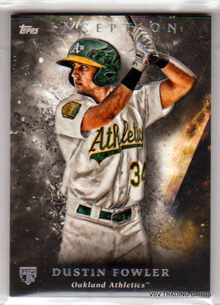 Dustin Fowler, 2018 Topps Inception ROOKIE Card #15, Oakland Athletics