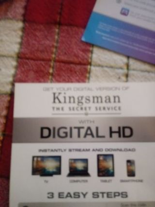 Kingsman The Secret Service VUDU Code