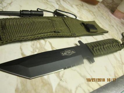 8.75 Inch Full Tang Knife w/ Fire Starter